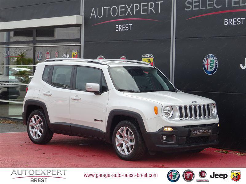 Jeep Renegade 1.6 MultiJet S&S 120ch Limited Diesel Alpine White Occasion à vendre