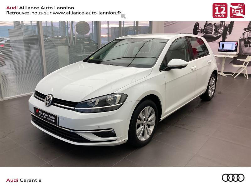 Volkswagen Golf 1.6 TDI 115ch BlueMotion Technology FAP First Edition DSG7 5p Diesel BLANC PUR Occasion à vendre