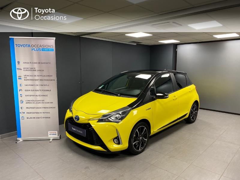 Toyota Yaris 100h Collection 5p Hybride Jaune Occasion à vendre