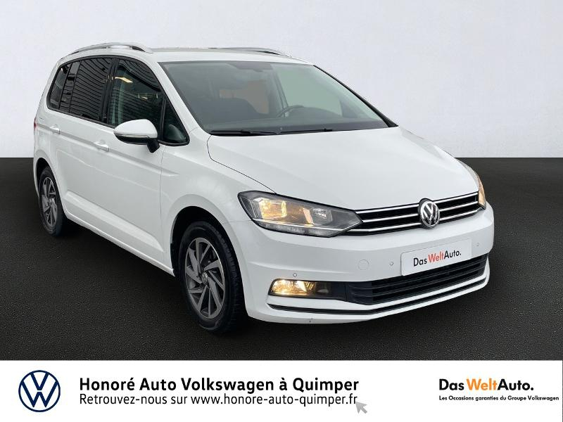 Volkswagen Touran 2.0 TDI 150ch BlueMotion Technology FAP Sound 7 places Diesel BLANC PUR Occasion à vendre