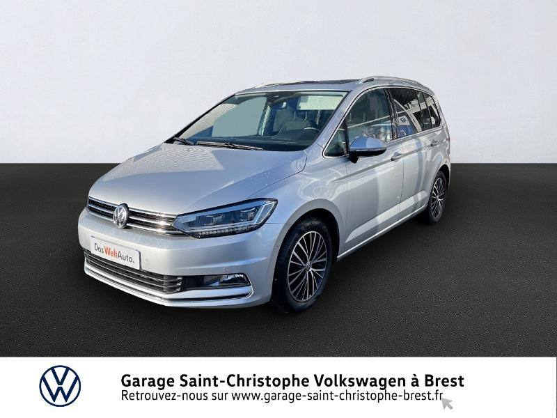Volkswagen Touran 2.0 TDI 150ch BlueMotion Technology FAP Carat DSG6 7 places Diesel ARGENT Occasion à vendre